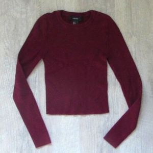Forever 21 Maroon Ribbed Sweater Size Small